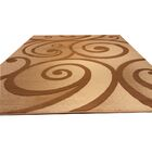 Hand-Carved Beige/Brown Area Rug Rug Size: Rectangle 5'3