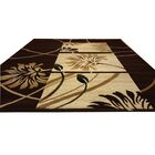 Hand-Carved Brown/Beige Area Rug Rug Size: Rectangle 10' x 13'