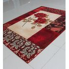 Ivory/Red Area Rug Rug Size: 7'11
