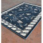 Blue/Black Area Rug Rug Size: 5'3