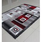 Red/Black Area Rug Rug Size: Runner 2' x 7'2