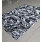 Black/White Area Rug Rug Size: 7'11