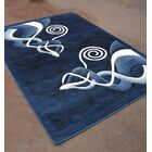Light Blue/Black Area Rug Rug Size: 7'11