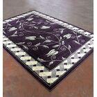 Purple/Black Area Rug Rug Size: 7'11