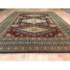 Kazak Hand-Knotted Rust/Green Area Rug