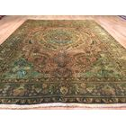 Lutz Hand-Knotted Brown/Green Area Rug