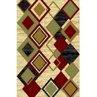 Dianah Ivory/Green Area Rug Rug Size: 7'11