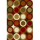 Monte Taupe/Green Area Rug Rug Size: 5'3