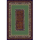 Carole Green/Brown Area Rug Rug Size: 7'11