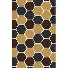 Bontrager Modern Dark Brown Area Rug Rug Size: 5'3