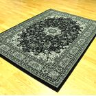 Zoel Traditional Black/Gray Oriental Area Rug Rug Size: 5'3