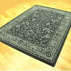 Zoelle Traditional Stain Resistant Gray/Black Area Rug Rug Size: 10' x 13'