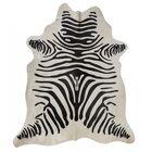 Zebra Hand-Woven Black/White Area Rug Rug Size: Novelty 6' x 8'