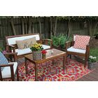 Croll Red Indoor/Outdoor Area Rug Rug Size: 6' x 9'