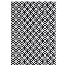 Leyba Hand-Knotted Wool Ivory/Black Area Rug Rug Size: Rectangle 7'6