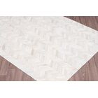 Chappel Chevron Hand Woven Cowhide White Area Rug Rug Size: Rectangle 5' x 8'