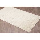 Lauria Solid Texture Hand Woven Wool Ivory Area Rug Rug Size: Rectangle 8' x 10'