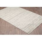 Laux Solid Texture Hand Woven Wool Gray Area Rug Rug Size: Rectangle 8' x 10'