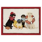 Dog Days of Summer Hook Hand-Woven Beige/Red Area Rug