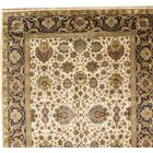 Tabriz Hand-Knotted Wool Ivory/Navy Area Rug