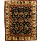 Indo Himalayan Hand-Knotted Wool Navy/Ivory Area Rug