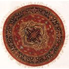 Serapi Design Hand-Knotted Wool Rust Navy Area Rug