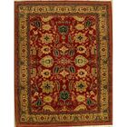Agra Hand Knotted Wool Rust/Gold Area Rug