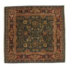 Indo Agra Fine Hand Knotted Wool Green/Red Area Rug