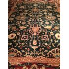 Agra Hand-Knotted Wool Red/Black Area Rug