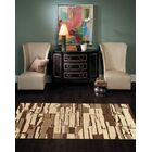 Modern Hand-Knotted Wool Beige/Brown Area Rug