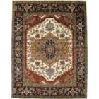Serapi Hand-Knotted Wool Ivory/Brown Area Rug