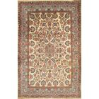 Semi-Antique Royal Persian Kerman Hand-Knotted Wool Beige Area Rug
