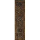 Indo Tabriz Hand-Knotted Wool Brown Area Rug