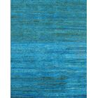 Modern Hand-Knotted Light Blue Area Rug