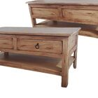 Rustic Coffee Table Color: Rustic Light Blue