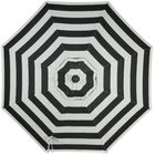 Wiebe Auto Tilt 9' Market Sunbrella Umbrella Fabric Color: Mocha Stripe, Frame Color: White Sand