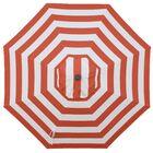 Centeno Double Pulley 9' Market Sunbrella Umbrella Fabric Color: Flame, Frame Color: Silver Mirror