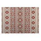 Gray/Red Indoor/Outdoor Doormat Mat Size: Rectangle 5' x 7'