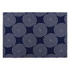 Navy Indoor/Outdoor Doormat Mat Size: Square 8'