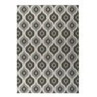 Underhill Indoor/Outdoor Doormat Mat Size: Rectangle 4' x 5', Color: Grey/ Ivory