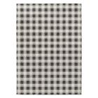 Grey/White Area Rug Rug Size: Rectangle 2' x 3'