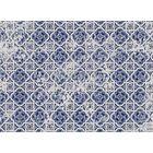 Blue Tile Area Rug Rug Size: 5' x 7'