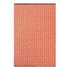 Arabian Nights Orange/White Indoor/Outdoor Area Rug Rug Size: 5' x 8'