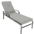 Konevsky Aluminum Reclining Chaise Lounge with Cushion Cushion Color: Frequency Ash