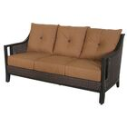 Cahillane Aluminum Outdoor Wicker 3 Seat Patio Sofa with Cushions Fabric Color: Canvas Teak