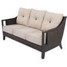 Cahillane Aluminum Outdoor Wicker 3 Seat Patio Sofa with Cushions Fabric Color: Flagship Stone