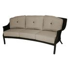 Kanzler Aluminum Outdoor Wicker Curved Patio Sofa with Cushions Cushion Color: Cast Shale