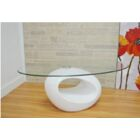 Olivia Coffee Table Base Color: White