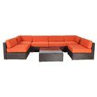 Outdoor Cushion Cover Fabric: Orange