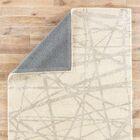 Keswick Geometric Handmade White Area Rug Rug Size: Rectangle 5' x 8'